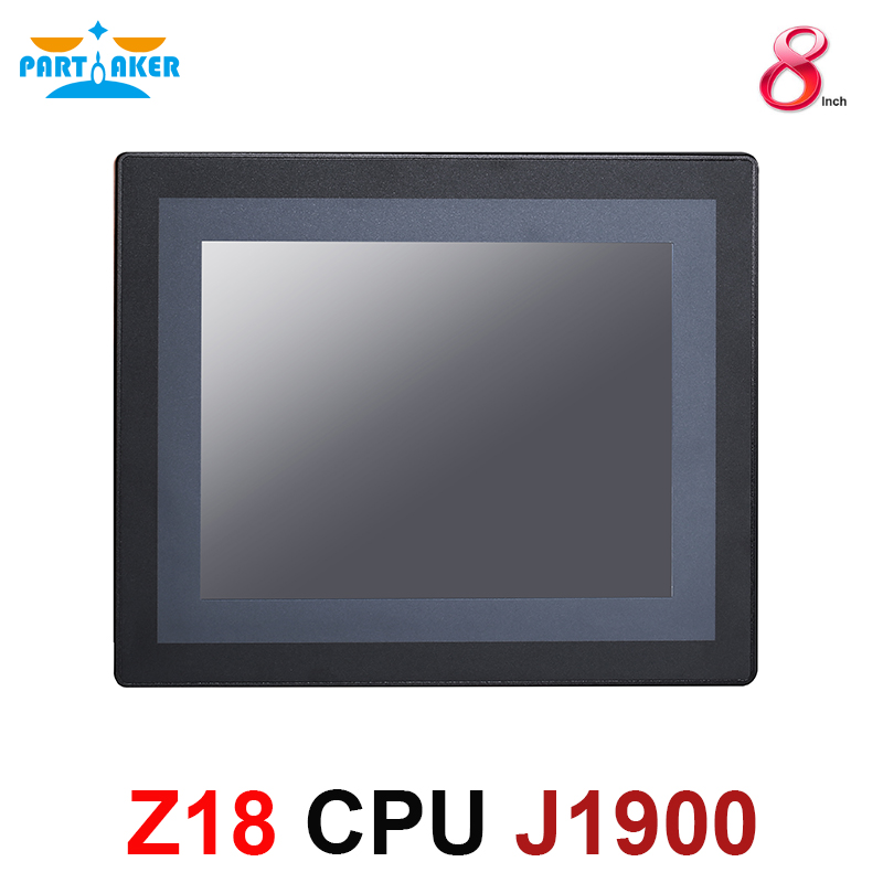 8 Inch LED IP65 Industrial Touch Panel PC All In One Computer Resistance Touch Screen Intel Celeron J1900 Dual Lan Partaker Z18