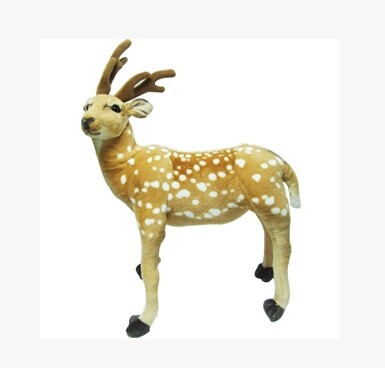about 70x50cm sika deer plush toy standing pose deer doll,Christmas gift b4693 super cute plush toy dog doll as a christmas gift for children s home decoration 20