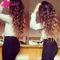 8A Peruvian Virgin Hair Loose Wave 3 Tone Ombre Curly Hair 1b 4 30 Ombre Hair Loose Curly Weave Wet And Wavy Human Hair
