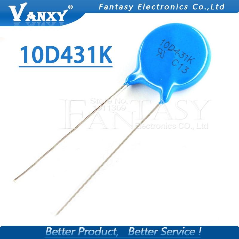 10 pcs varistore 10D431K 430 V piezoresistor 10D43110 pcs varistore 10D431K 430 V piezoresistor 10D431