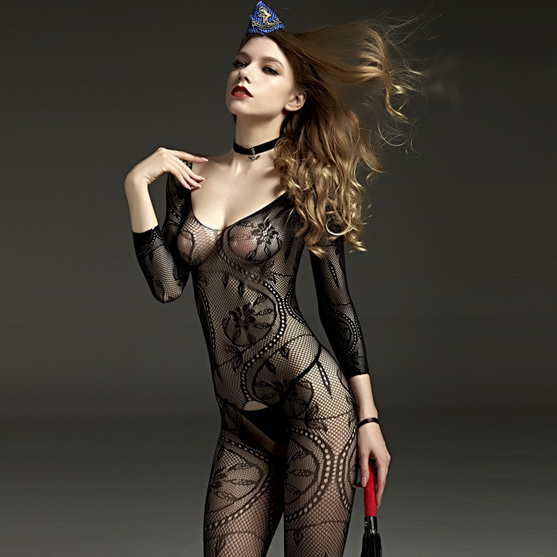 LEOHE Bodysuits Women Sexy Rompers Jumpsuits Lenceria Tights Erotic Intimates Open Crotch  Sexy Pantyhose