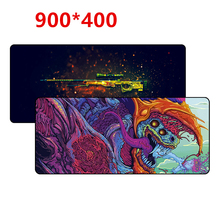 900×400 mm large gaming mouse pad XL XXL Overlock big game mousepad keyboard desk mat for CS:GO CSGO dragon hyper beast AWP
