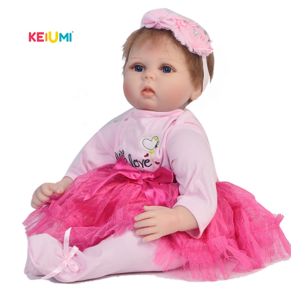 Shoes+Panda 22/'/' Lifelike Baby Silicone Vinyl Reborn Newborn Girl Doll Clothes