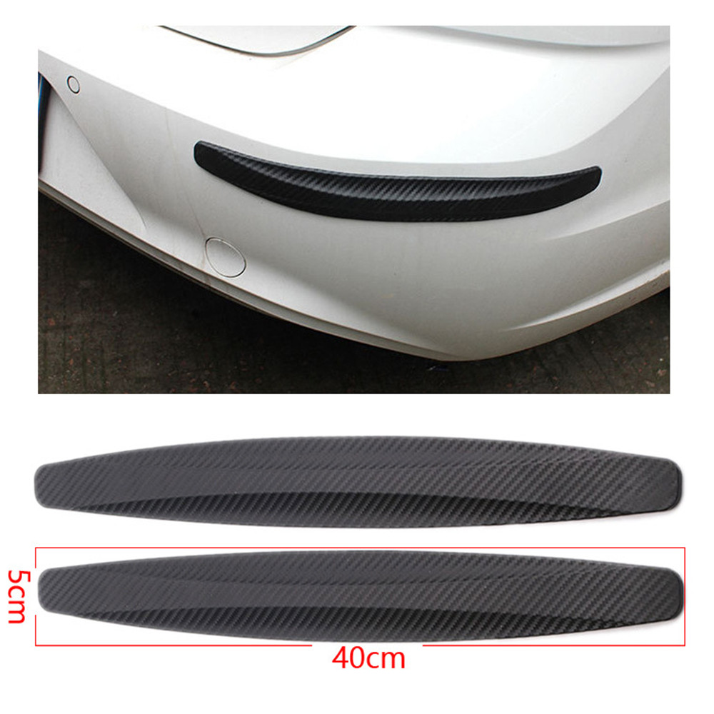 2/4Pcs 40x5cm Auto Stoßstange Protector Ecke Schutz Anti-Scratch Streifen Aufkleber Schutz Körper formteile Valance Kinn