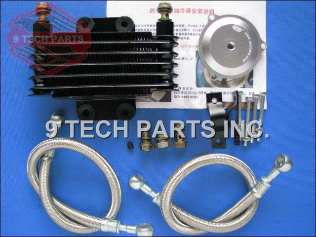 Free Shipping GN250 Motorcycle Oil Cooler Oil Engine Radiator SYSTEM FULL SET