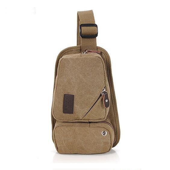 2016 Women's shoulder bag men's waist bag fashion Recreational canvas small waist bag