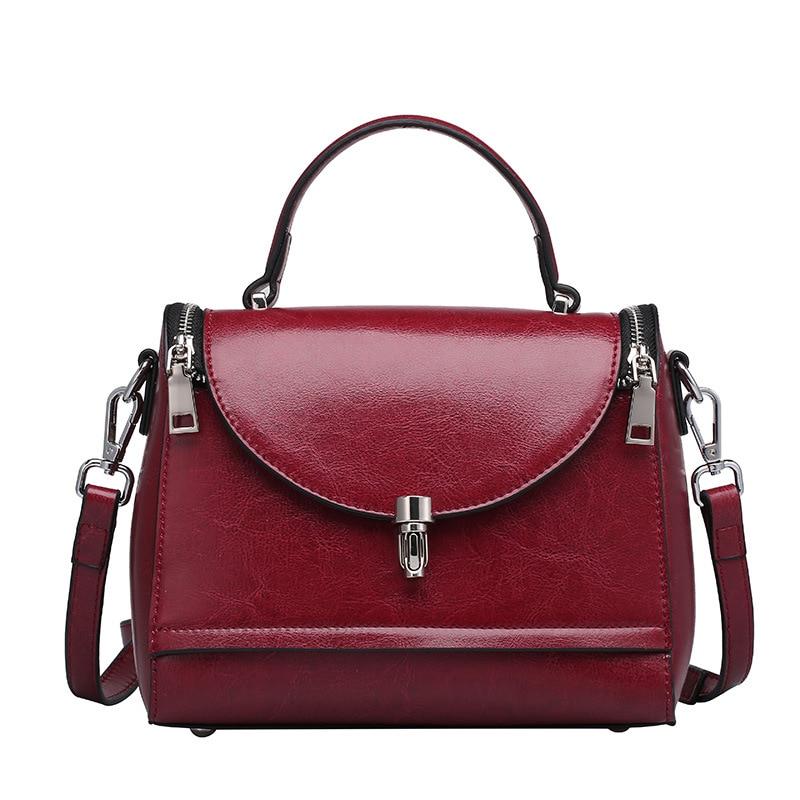 ФОТО Hot Sale Fashion Designer Brand Women genuine Leather Vintage Handbags Ladies Shoulder Bags Tote Bag Retro Messenger Women Bags