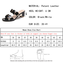 Lucyever 2018 new women square heels gladiator sandals brand design fashion pu leather summer shoes metal party sandals
