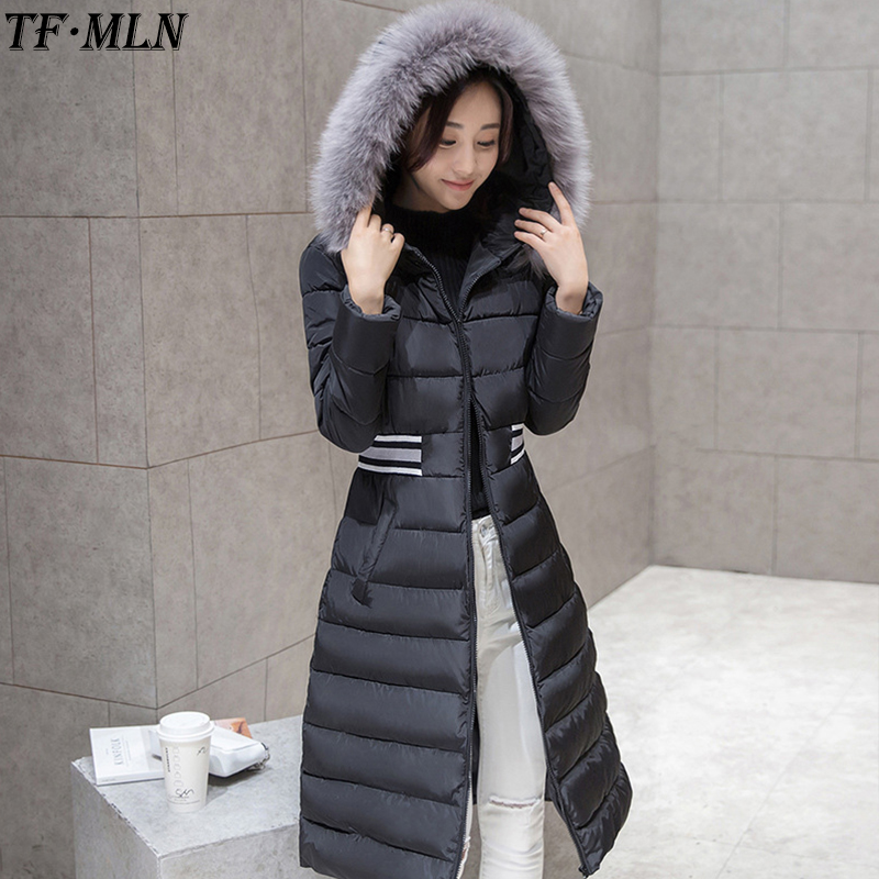 Fashion 2017 Winter Coat Women Parka Long Thick Warm Down Cotton Brand Jacket Women Jackets And Coats Outwear Women Clothing free shipping winter jacket men down parka warm coat hooded cotton down jackets coat men warm outwear parka 225hfx