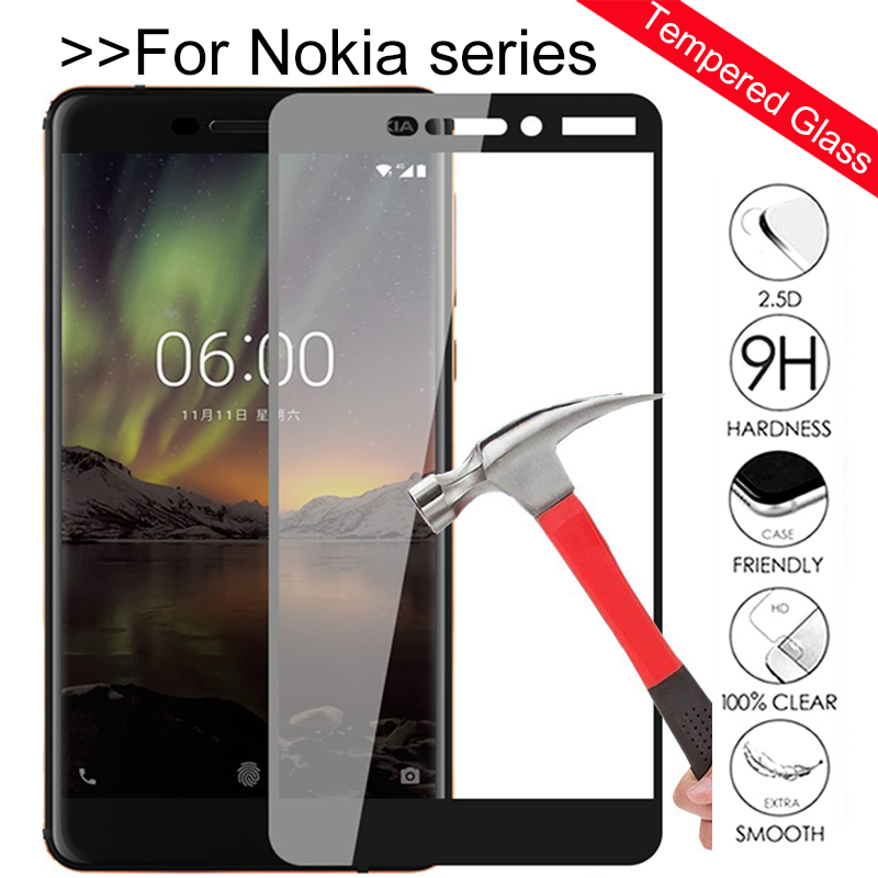 3D Full Cover For Nokia 6.1 2018 Tempered Glass Screen Protector For nokia 2.1 3.1 5.1 7.1 8.1 2018 Glas Protective Glass Film