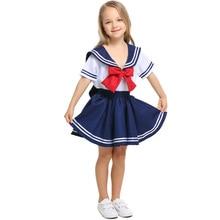 Umorden Girl Japanese Anime Sailor Moon Costume Cosplay Teen Girls Navy Sailor Uniform Halloween Costumes Dress