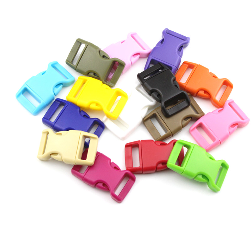40pcs Mixed Curved Side Release Plastic Buckle for Paracord Bracelet Bags