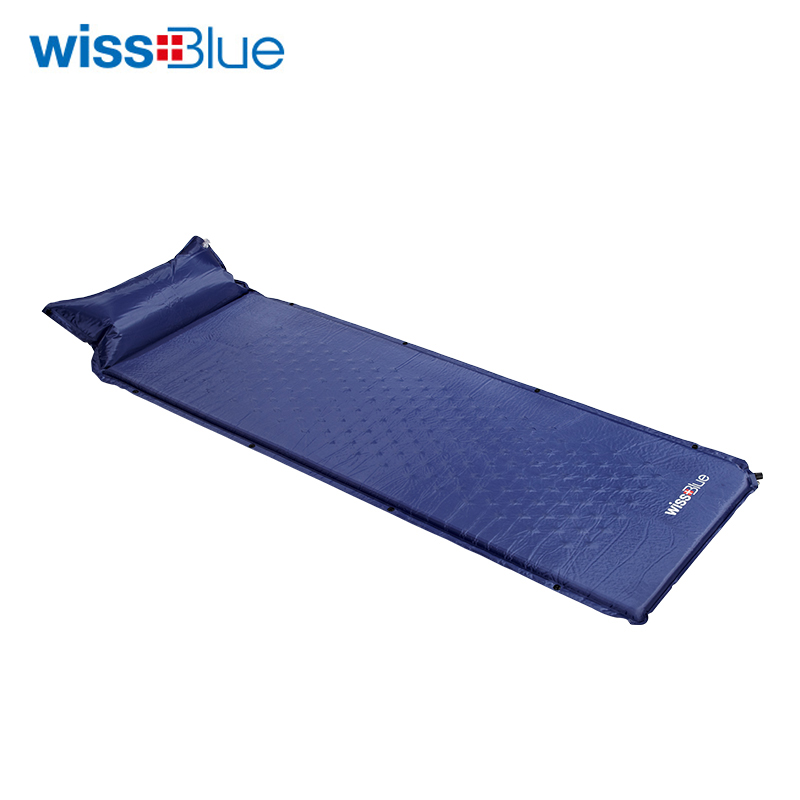 Wissblue Inflatable Cushion Sleeping Bag Mat Fast Filling Air Moistureproof Camping Mat With Pillow Sleeping Pad Single Tent Bed naturehike camping mat outdoor inflatable cushion fast filling air moistureproof camping mat with pillow sleeping pad 460g
