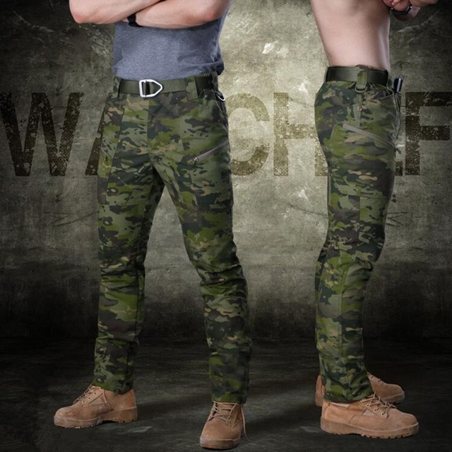 Pants Military Clothing Men's Casual Cargo Pants SWAT Combat Pants Man Trousers