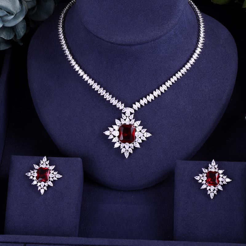 Bridal-Jewelry-Sets Jankelly Wedding-Party-Accessories Dubai African Women New-Fashion