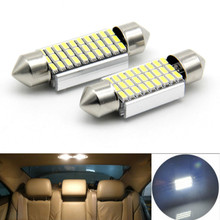 JURUS 10Pcs Festoon 31mm 36mm 39mm 41mm LED Bulbs For Car Interior Doom Reading Light White C5W Led 4014SMD Canbus Error Free