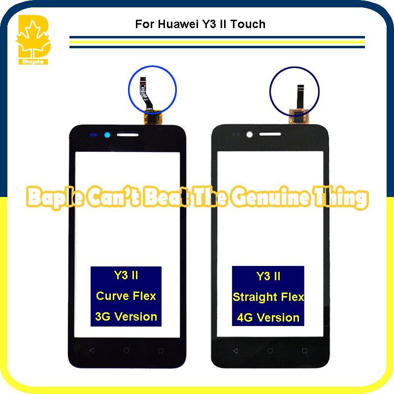 imágenes para 10 unids 4.5 ''Para Huawei Y3 II LUA-L03 LUA-L21 LUA-L23 pantalla Táctil Panel Táctil Digitalizador Del Sensor de Cristal Piezas Del Teléfono highscreen