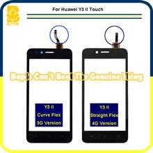 """10 шт. 4.5 """"Для Huawei Y3 II LUA-L03 LUA-L21 LUA-L23 Сенсорным экраном Дигитайзер Сенсорная Панель Датчик Стекло Телефон Частей highscreen"""
