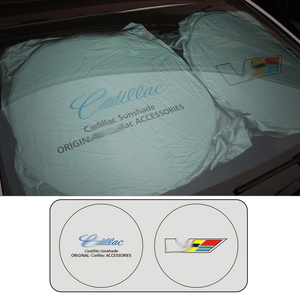 Image 5 - for Cadillac Car Windshield Cover Automobile Sunshade Shield for Windshield Visor Cover Summer Front Window Windscreen Cover