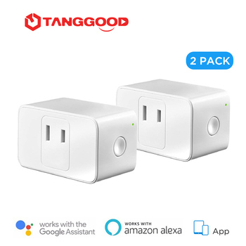 TANGGOOD Smart WiFi Plug Mini Japan 2-Pack Work with Amazon Alexa & Google Assistant & IFTTT App Remote Control Smart Home amazon 2 pack