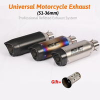 Motorcycle Exhaust Universal Muffler Motorbike 51mm Inlet Exhaust For SC Honda Kawasaki Yamaha KTM DUCATI ATV R1 R3 R6