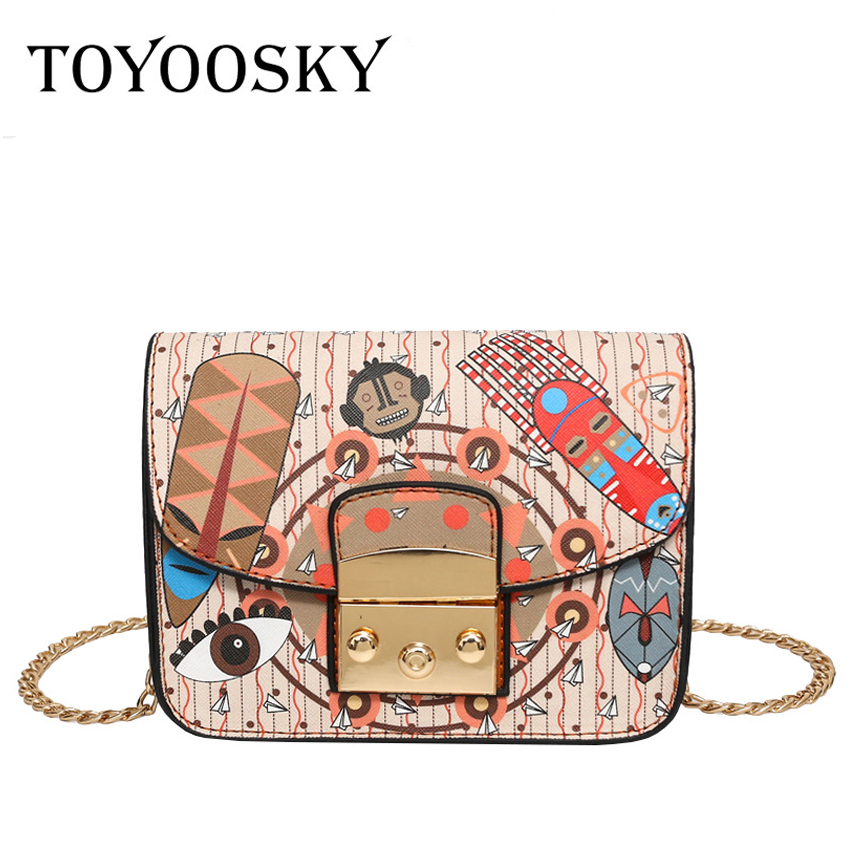 TOYOOSKY Fashion Women Flap Bag Shoulder Messenger Bags PU Leather Handbags Solid Chains Small Bags Bolsas Feminina Female women handbags fashion women messenger bags flap crossbody bag chains shoulder bag high quality pu leather handbag female 2018