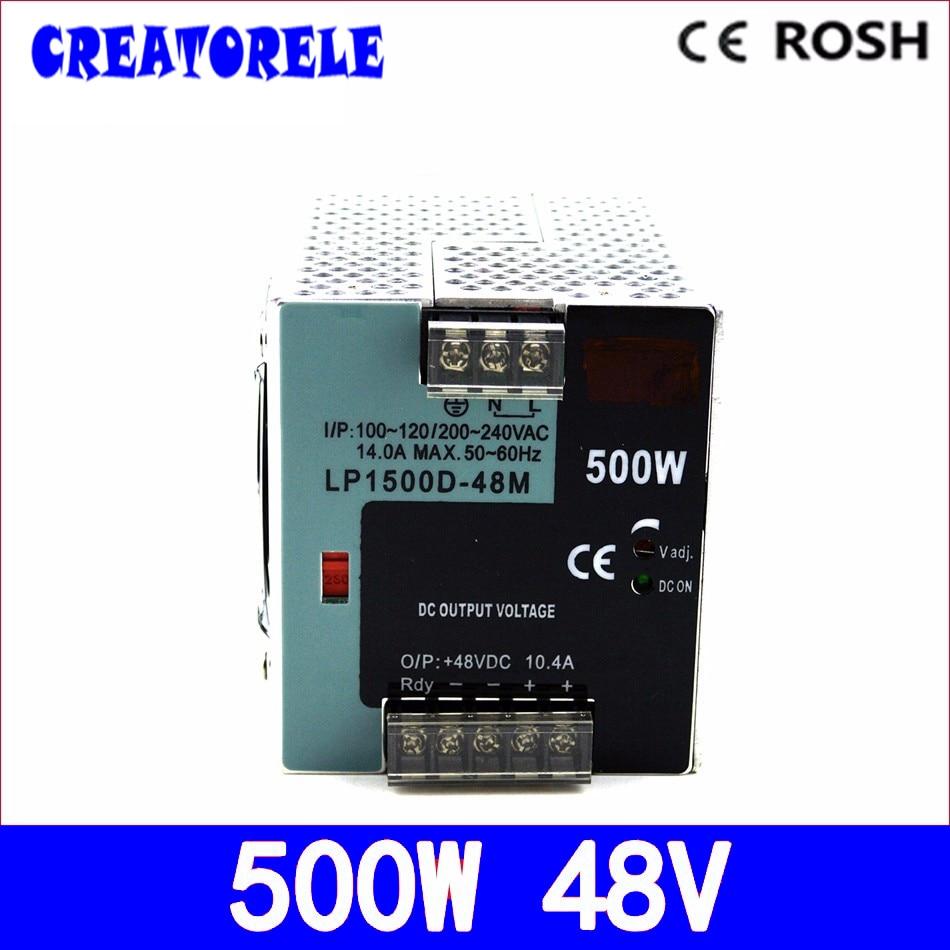 ac to dc LP-500-48 500W 48V 10.4A din Rail 500w -driver led driver source switching power supply volt ac 85v 265v to 20 38v 600ma power supply driver adapter for led light lamp