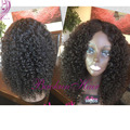 Japanese Heat Resistant Fiber Long Black Curly Synthetic Lace Front Wigs Black Afro Kinky Curly Synthetic Lace Front Wig