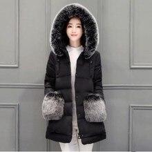 Winter Jacket Women Slim Warm Winter Coat Long Elegant Outwear Red/Gray/Black/Blue/Pink Color Parkas Plus Size S M L XL 2XL