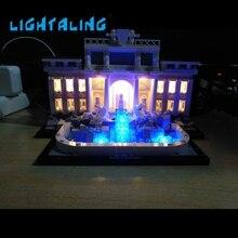 Lightaling светодиодные комплект для фонтан Треви совместимы с брендом 21020 Строительные блоки Кирпич архитектура света игрушки