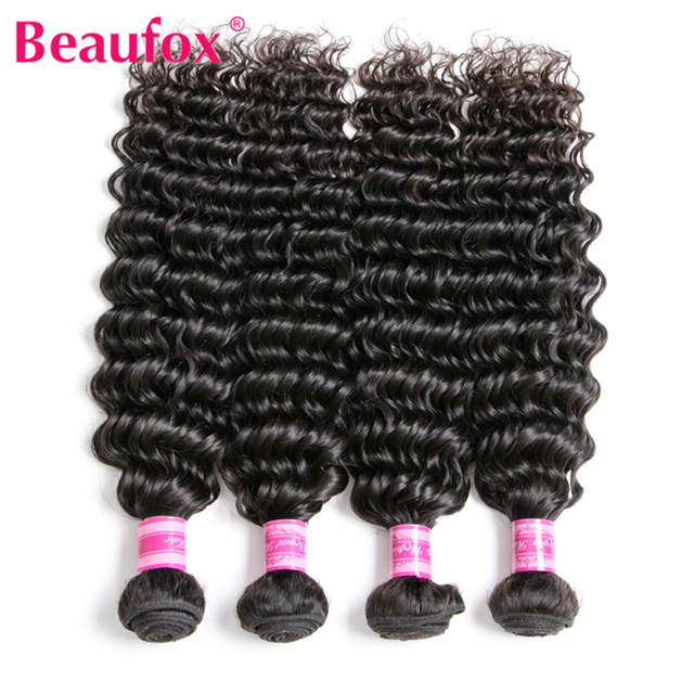 Beaufox Deep Wave Brazilian Hair Bundles Human Hair Bundles Natural