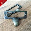 New 10pcs Bronze Cabinet Drawer Handles Furniture Vintage Knobs Wooden Box Pulls Antique Cupboard Closet Drawer Handle Pull Bars