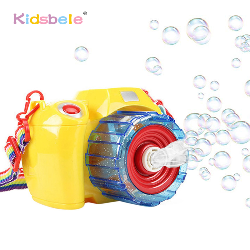 Bubble Blowing Toys For Kids Automatic Electric Light Music Toys Camera Soap Bubble Machine Summer Outdoor Children Toys