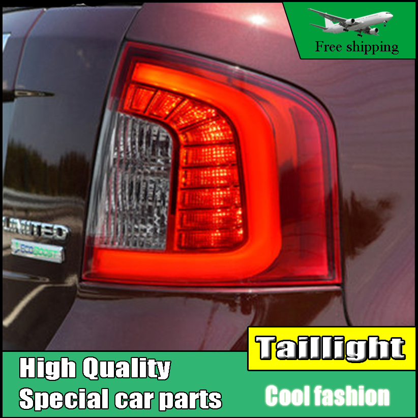 Car Styling Tail Light Case For Ford Edge Taillights 2011-2014 LED Tail Lamp Rear Lamp DRL+Brake+Park+Signal light