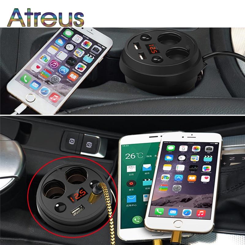 Dual USB Charger Car Adapter With 2 Cigarette Lighter For Hyundai I30 IX35 Nissan Juke Subaru Suzuki Vitara Swift Opel Insignia