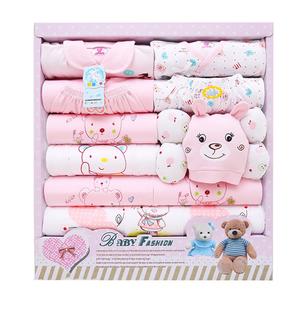 2016 New Spring Autumn Newborn baby gift sets infant baby boy girl clothes package 100% cutton High Quality