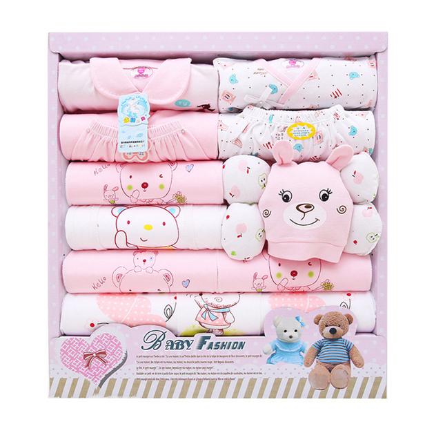 2016 Nueva Primavera Otoño bebé Recién Nacido juegos de regalo del bebé de la muchacha ropa de paquete 100% de cutton Alta Calidad