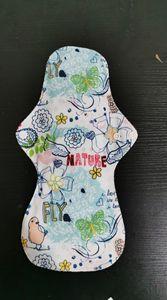 Image 2 - Cheapest Bamboo Mamas Cloth Pad Bamboo Sanitary pads For Women Girls Printed Menstrual Pads Liners Washable 30 pcs/lots