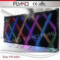Free shipping P9 3x6m film image video cloth for cinema advertising
