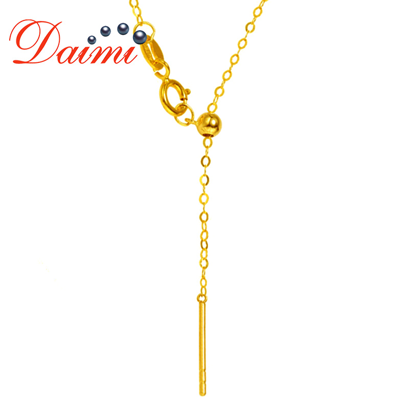 DAIMI 1 2g Pure Gold Adjustable Chain 18K Gold Universal Chain