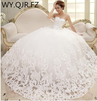 XLZY-HS06#Lace Up Diamond Ball Gown Wedding Party Prom Dress New Spring Summer 2019 The Bride Wholesale Bridesmaid Dresses Cheap