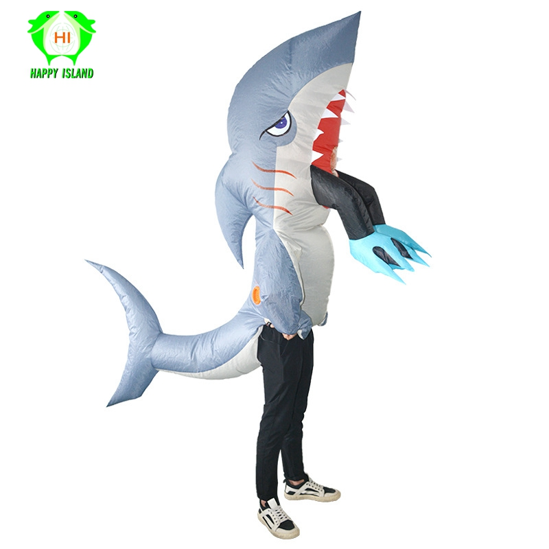 Special Halloween Inflatable Shark Costumes for Adult Spoof Animal Inflatable Costume Men Women Party Inflatable Costume Suit