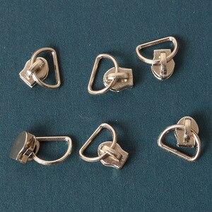 25pcs/lot Metal Zinc Alloy 3# Non Lock Plating Zipper Sliders zipper pull for nylon zippers D shape high quality DIY