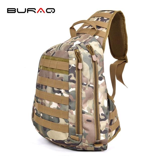 b87379d05750 2018 Multifunction Molle Chest Sling One Single Shoulder Bag Man Big Large  Ride Cross Body Travel Military Chest BagT0096