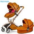Caliente mamá cochecito alto paisaje puede sentarse o mentir ruedas neumáticas cochecito de bebé portátil carro entrega libre