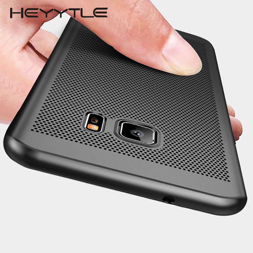 Ultra Slim <font><b>Phone</b></font> <font><b>Case</b></font> For <font><b>Samsung</b></font> Galaxy S9 S8 <font><b>S7</b></font> S6 <font><b>Edge</b></font> Plus Hollow Heat Dissipation <font><b>Case</b></font> Hard PC Cover For <font><b>Samsung</b></font> A7 A5 2017 image