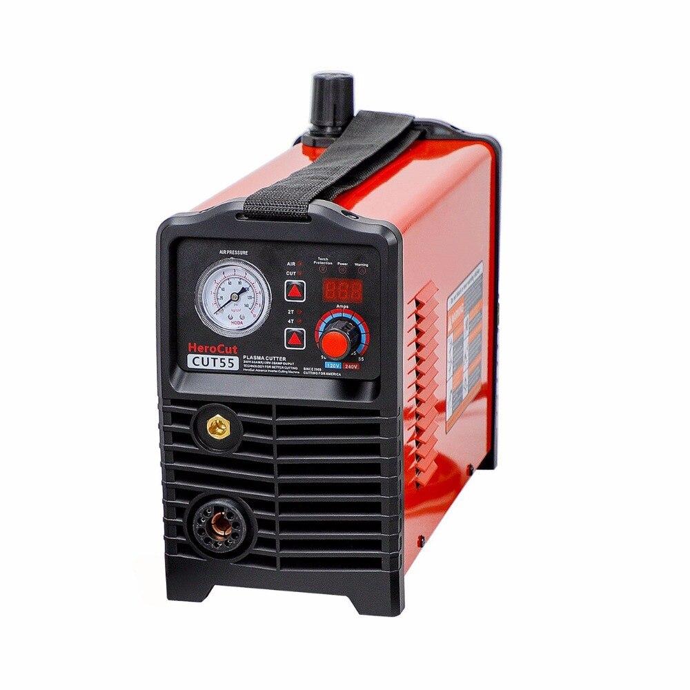 Taglio al plasma IGBT Digitale di Controllo CNC Arco Pilota Non-HF Cut55 A Doppia Tensione 120 v/240 v, macchina di taglio di Lavoro con tabella di CNC