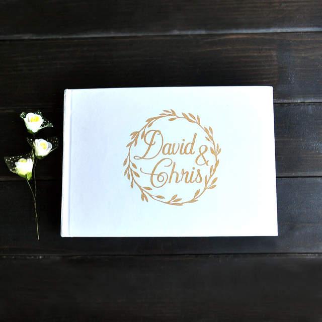 Rustique Blanc Mariage Livre D Or Noms Personnalises Alternative Mariage Livre D Or Anniversaire Saint Valentin Cadeau