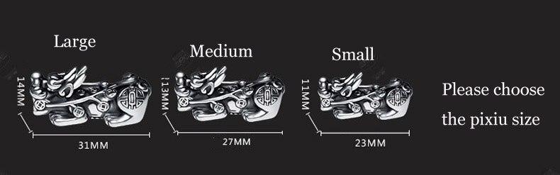 Image 2 - 3D 999 Silver Pixiu Beads Bracelet Obsidian Beaded Wealth Pixiu  Bracelet Fengshui Good Luck BraceletStrand Bracelets