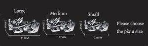 Image 2 - Bracelet à perles feng shui en argent 999, bijou à perles obsidienne pour la richesse, Pixiu, porte bonheur